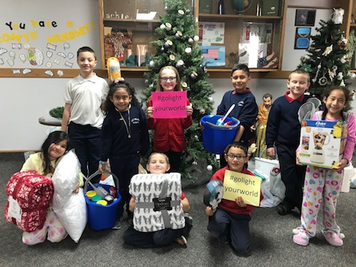 St Mary's 2nd Graders Donate Blessing Kits