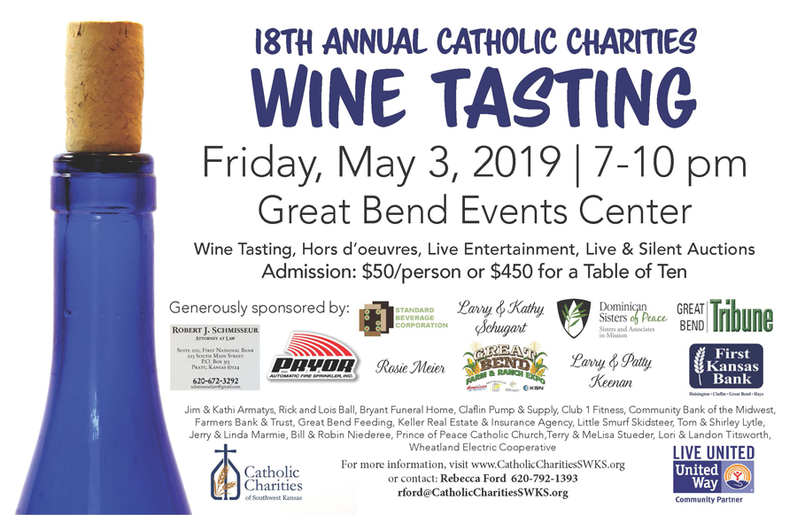 Tickets for the 2019 Wine Tasting Event on sale now!